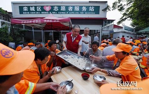 栾城爱心早餐店:每天为百余人免费提供早餐