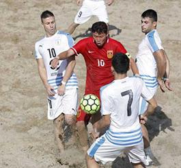 """2018""""欢赢杯""""中拉沙滩足球锦标赛在唐山国际旅游岛开赛"""
