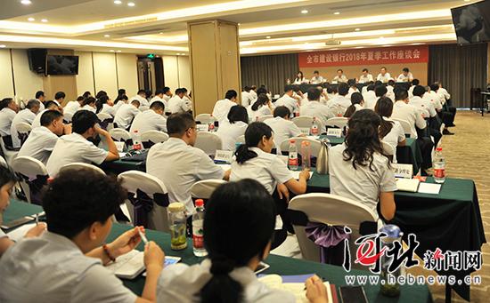 邯郸全市建设银行2018年夏季工作座谈会召开