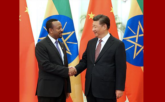 习近平会见埃塞俄比亚总理阿比