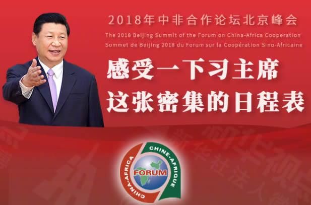 中非合作论坛北京峰会 习主席密集的日程表