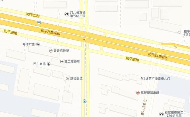 石家庄中华大街跨线桥和平路南侧桩基施工
