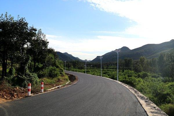 迎旅发大会 保定市满城区柿子沟旅游路主路正式竣工通车