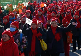万人徒步助力北京申冬奥