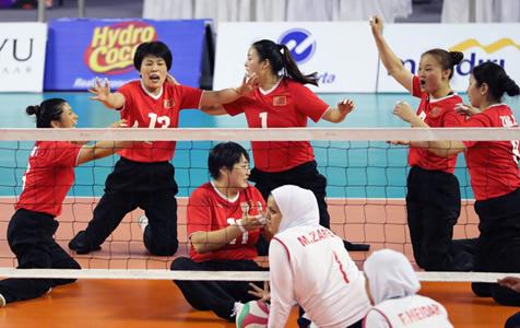 姑娘们好样的!亚残运会坐式排球中国夺冠