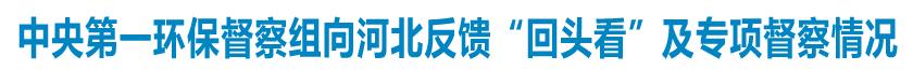 """中央第一环境保护督察组向河北省反馈""""回头看""""及专项督察情况"""