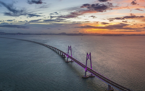 港珠澳大桥通车在即 美图先睹为快!