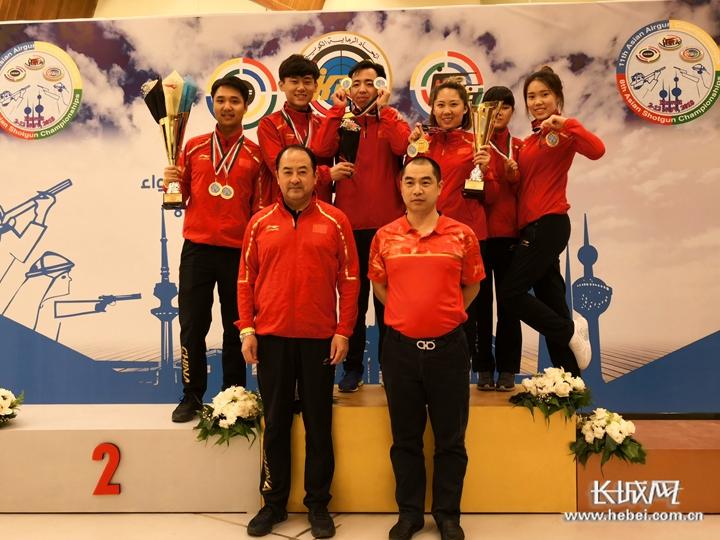 科威特亚洲射击锦标赛杨皓然夺三枚金牌