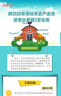 【图解】到2022年河北农业产业化经营总量超1万亿元