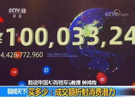 """数说中国""""购物车"""":成交额攀升折射消费潜力"""