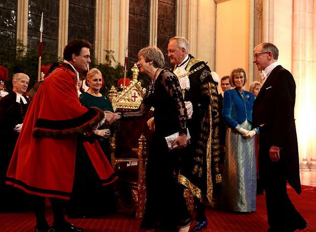 英国伦敦金融城市长举办年度晚宴 首相特雷莎·梅出席