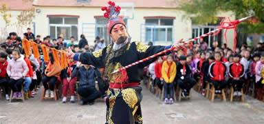 河北沧县:戏曲文化进校园