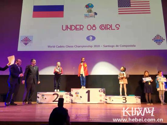 涿州3年级学生获青少年国际象棋世界锦标赛冠军