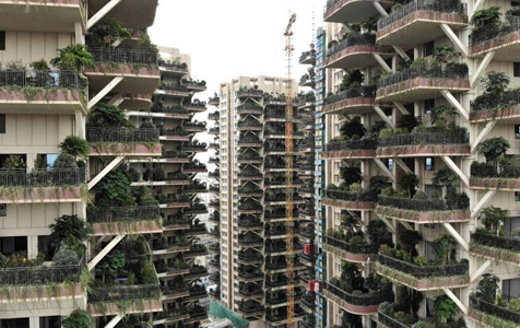 """""""垂直森林""""亮相成都!每户阳台都是花园"""
