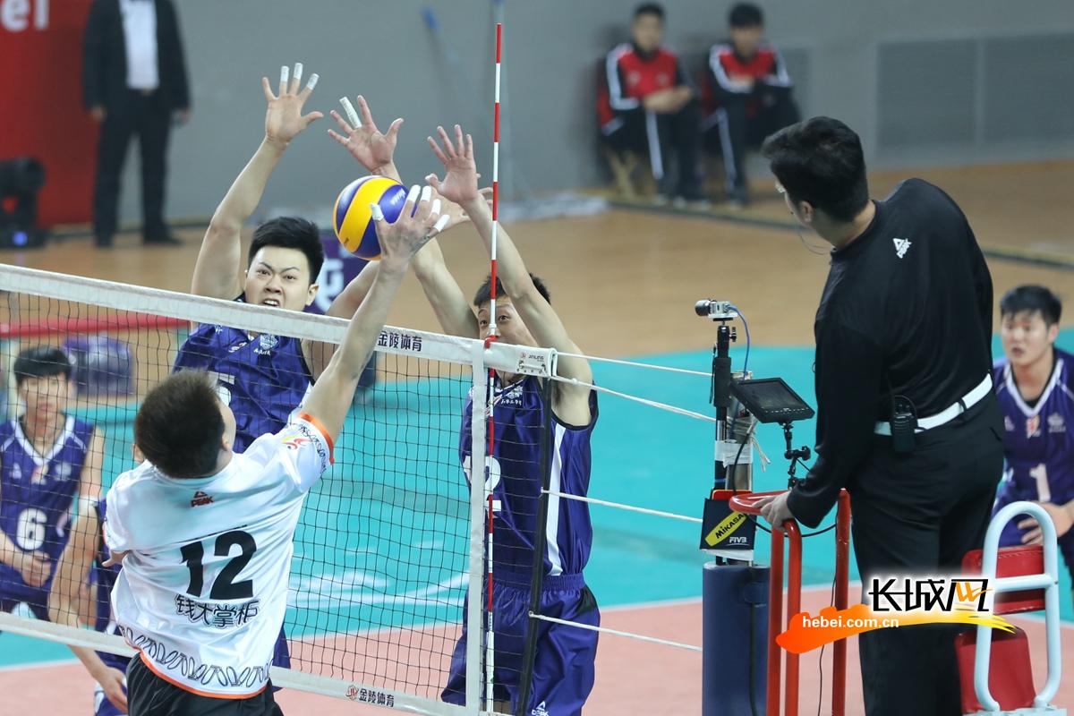 【高清图组】河北男排战胜辽宁鲅鱼圈男排 取得本赛季主场首胜