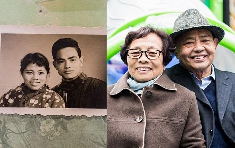 山东金婚夫妇温暖相爱54年 拍上万张照片将时光留住