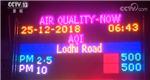 印度 PM2.5爆表