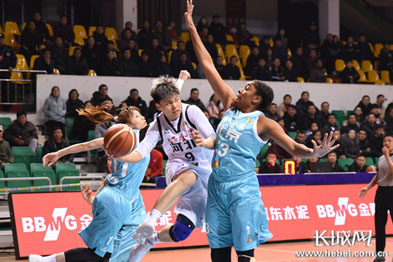 【高清图组】河北英励女篮主场62:91不敌北京首钢女篮