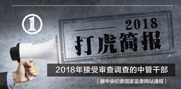 """2018中央纪委国家监委""""打虎""""简报"""