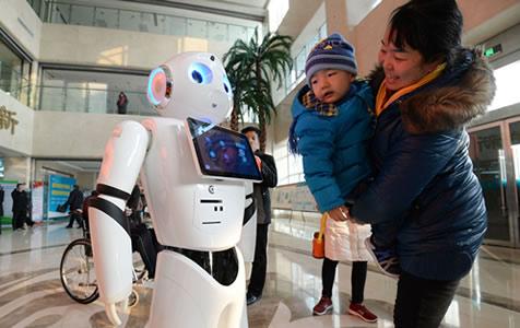 河北邯郸首个门诊导诊机器人上岗