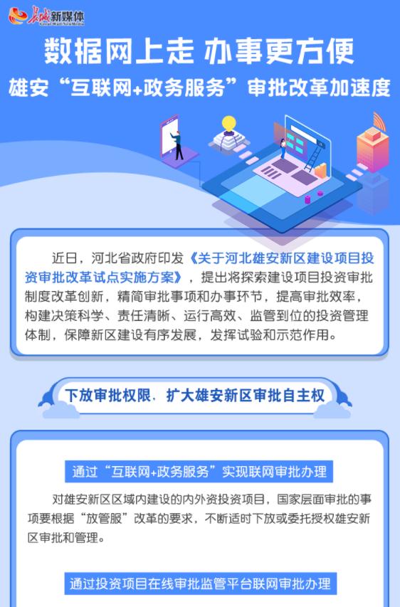 """【图解】数据网上走 办事更方便 雄安""""互联网+政务服务""""审批改革加速度"""