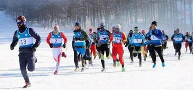 中国首届国际冬季铁人三项在张北开赛