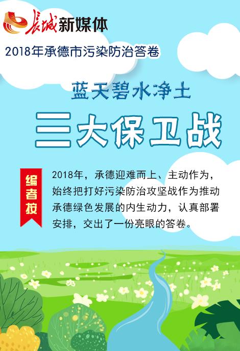 【图解】2018年承德市污染防治答卷
