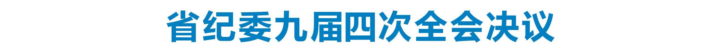 中国共产党河北省第九届纪律检查委员会第四次全体会议决议
