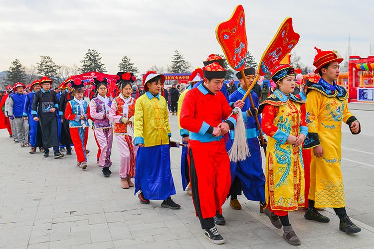 河北承德举办首届皇家文化庙会