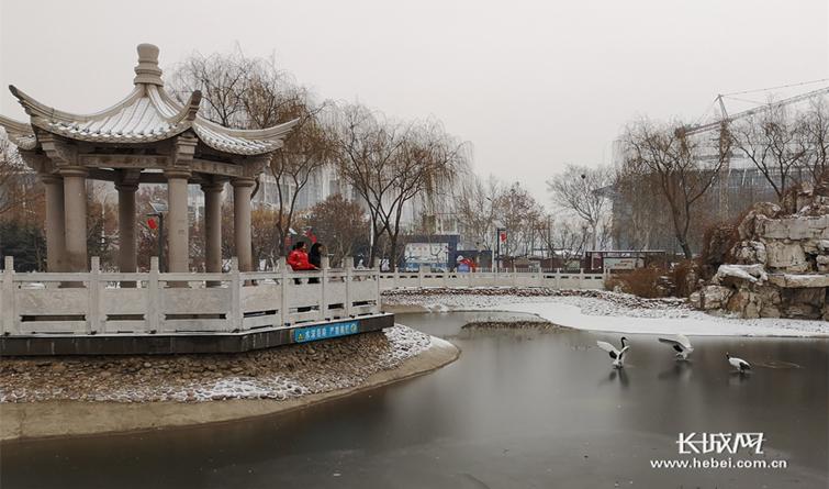 邢台开元寺广场雪后美景