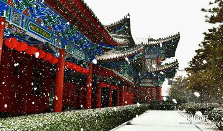 邢台:一场雪扮靓了整座城市