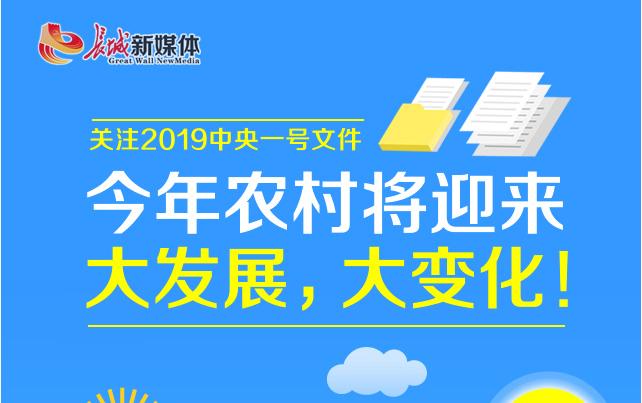 【关注2019中央一号文件】看!今年农村将迎大发展,大变化!