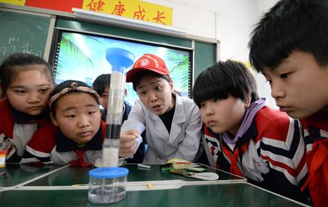 """河北邯郸:迎接""""世界水日"""" 节水科普进校园"""