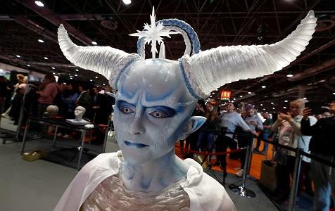 德国举行化妆艺术锦标赛 另类模特造型博眼球
