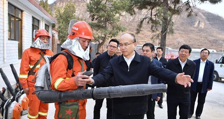 许勤深入河北省森林防火指挥中心和井陉县、井陉矿区调研检查