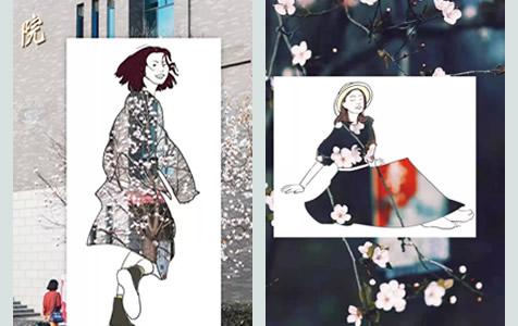 美!学生手绘时装,把春天穿在身上