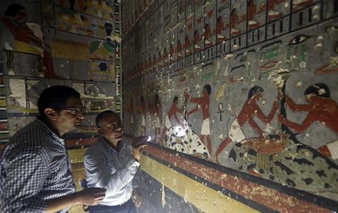 埃及塞加拉发现一座第五王朝时期贵族墓