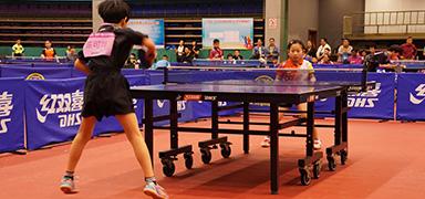 """""""红双喜·四环杯""""全国少儿乒乓球开赛 最小7岁"""