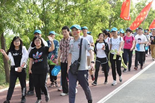 市住建局举办2019年春季职工健步行活动