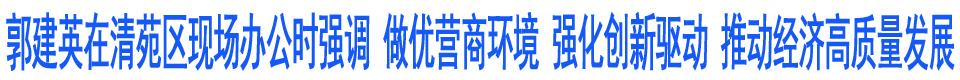 郭建英在清苑区现场办公时强调 做优营商环境 强化创新驱动 推动经济高质量发展