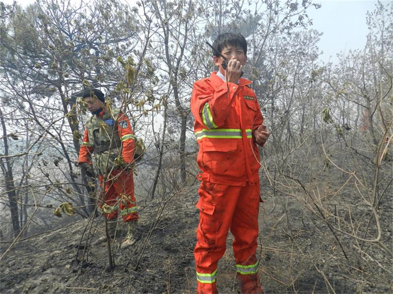 岳文海,一名森林防火的守护者
