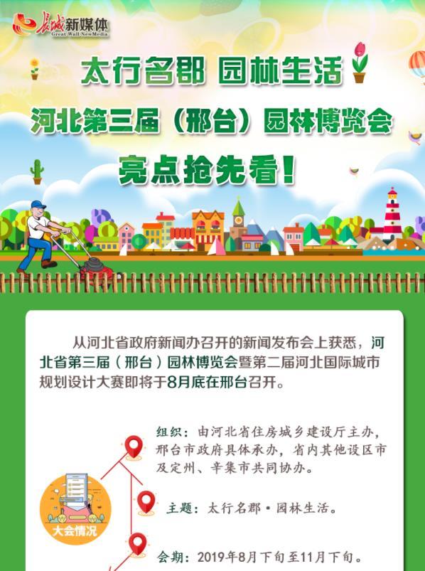 """【图解】""""太行名郡·园林生活""""河北第三届(邢台)园林博览会亮点抢先看!"""