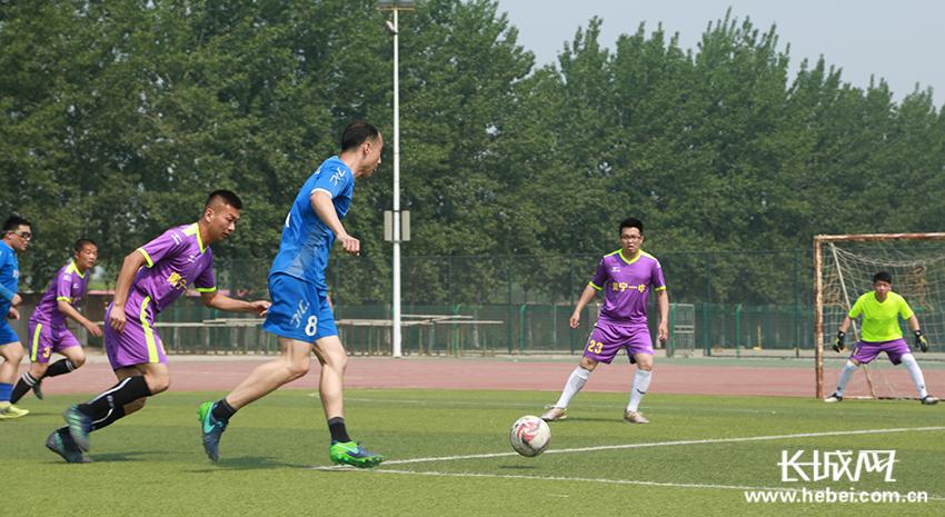 肃宁县首届五人制足球联赛开球