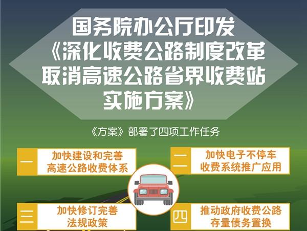 国办:力争年底前基本取消高速公路省界收费站