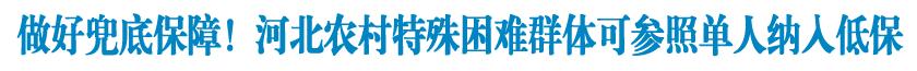 【图解】关于《河北省推进农村特殊困难群体社会救助兜底保障工作》政策解读