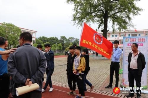 江西乐安县南村乡反邪教宣传进校园