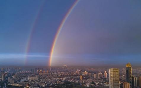 吉林长春:雨后彩虹