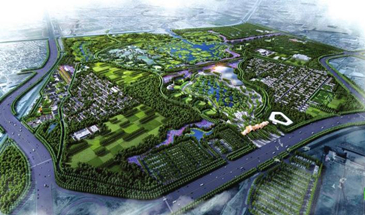 河北省第四届园林博览会示范区在邯郸市开建