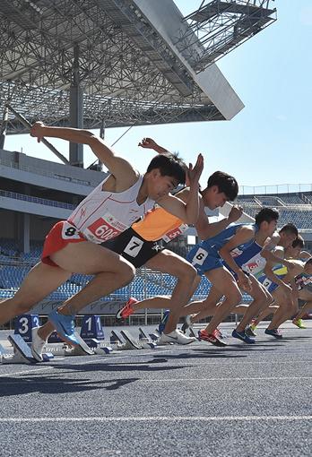 6月14日 第二届全国青年运动会 田径项目体校男子甲组预赛在河北奥林匹克中心开赛