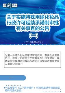 关于实施特殊用途化妆品行政许可延续承诺制审批有关事宜的公告(一)